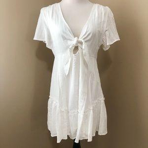 Cotton candy white mini dress